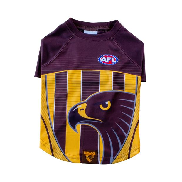 AFL Dog Tshirt Hawthorn Hawks Small