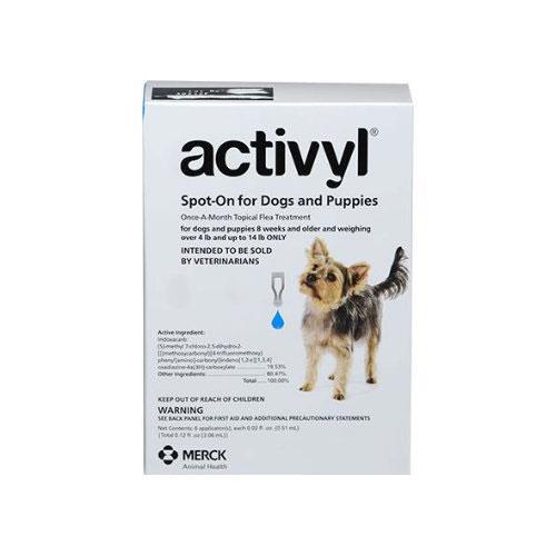 Activyl - Extra Small Dogs 1.5Kg - 6.5Kg Blue 6 Pipettes