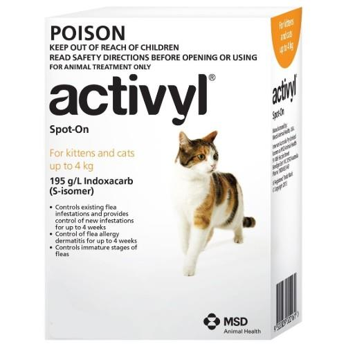 Activyl Kitten and Small Cat Under 4kg 6 pack