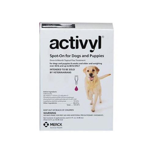 Activyl - Large Dogs Over 20Kg - 40Kg Purple 6 Pipettes