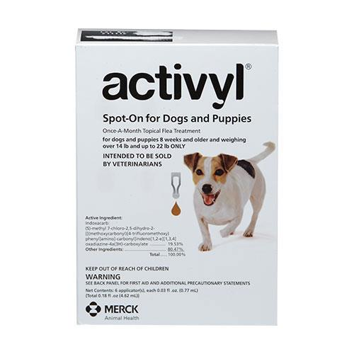 Activyl - Small Dogs 6.6Kg - 10Kg Brown 12 Pipettes