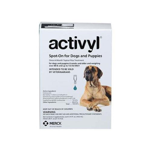 Activyl - XLarge Dogs Over 40Kg - 60Kg Green 6 Pipettes