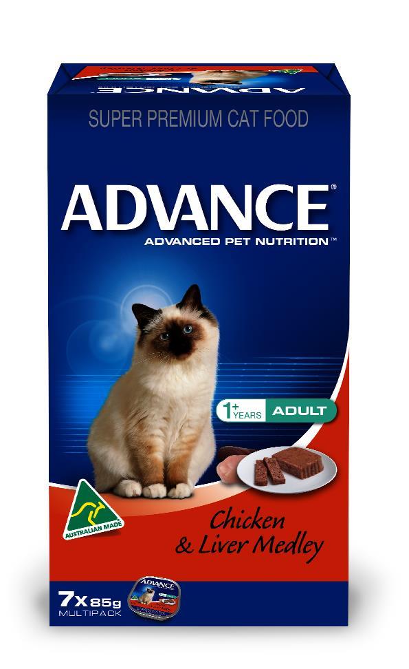 Advance Adult Cat Chicken & Liver Medley Wet Cat Food 7x85g