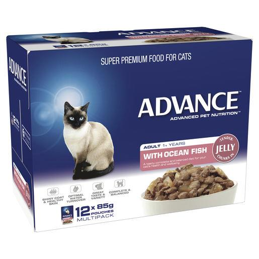 Advance Adult Cat Ocean Fish in Jelly Wet Cat Food 12x85g