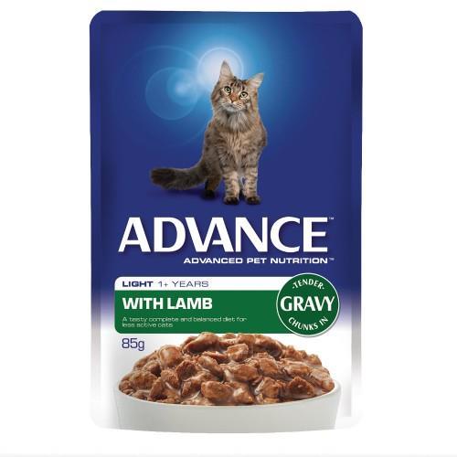 Advance Adult Light Lamb in Gravy 12x85g