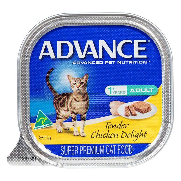 Advance Adult Tender Chicken Wet Cat Food Trays 7 X 85g