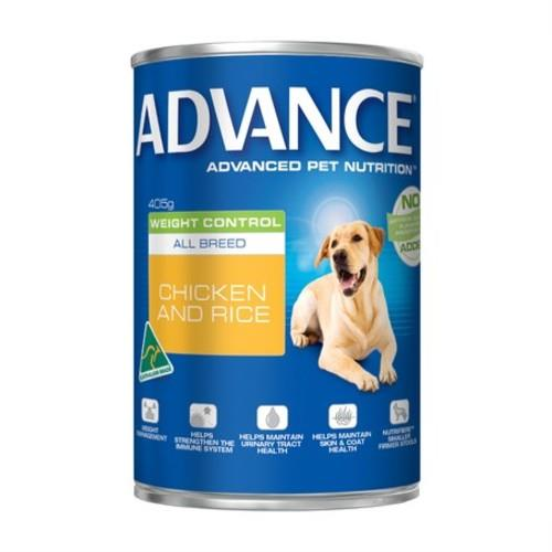 Advance Adult Weight Control Chicken and Rice Cans 12 x 405g