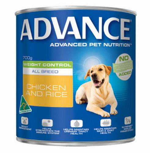 Advance Adult Weight Control Chicken and Rice Cans 12 x 700g