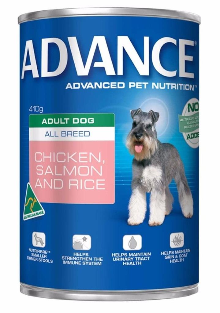 Advance All Breed Adult Dog Chicken & Salmon Wet Dog Food 12x410g