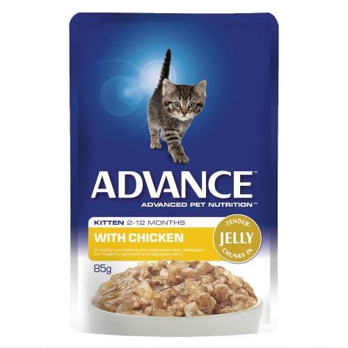 Advance Kitten Chicken in Jelly 12x85g