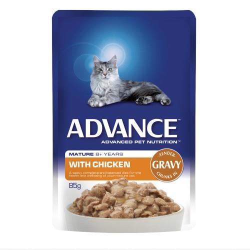 Advance Mature 8+ Chicken in Gravy 12x85g