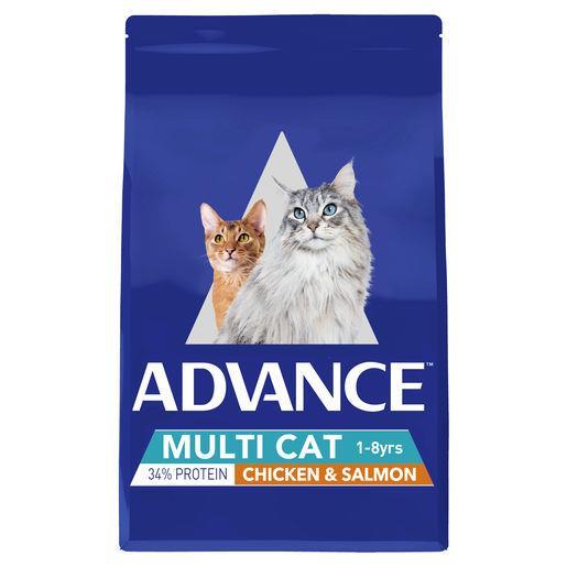 Advance Multi Cat Chicken & Salmon Adult Dry Cat Food 3kg