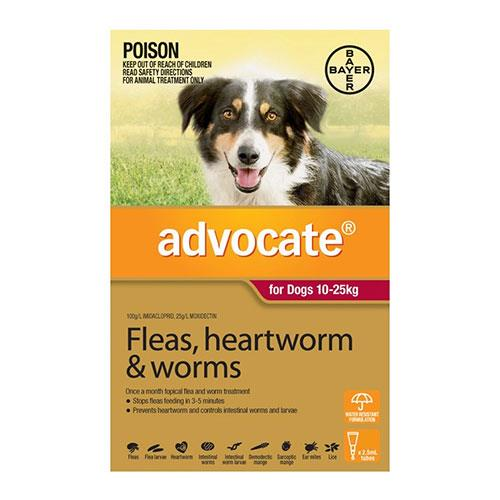 Advocate Dog Large Red 3 Pack