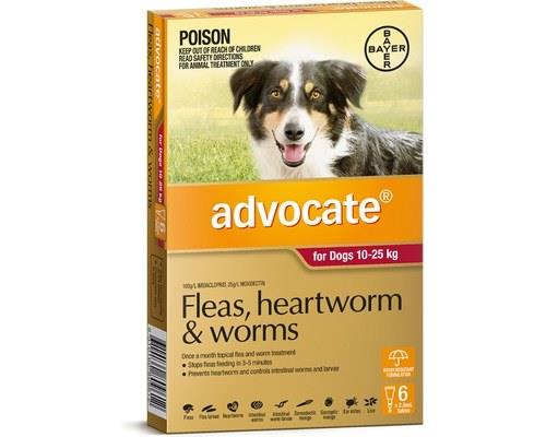 Advocate For Large Dogs 10-25kg 6 Pack (red)