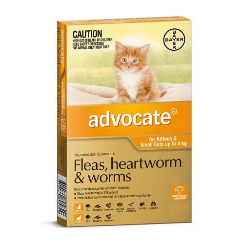 Advocate Small Under 4kg Orange 3 pack