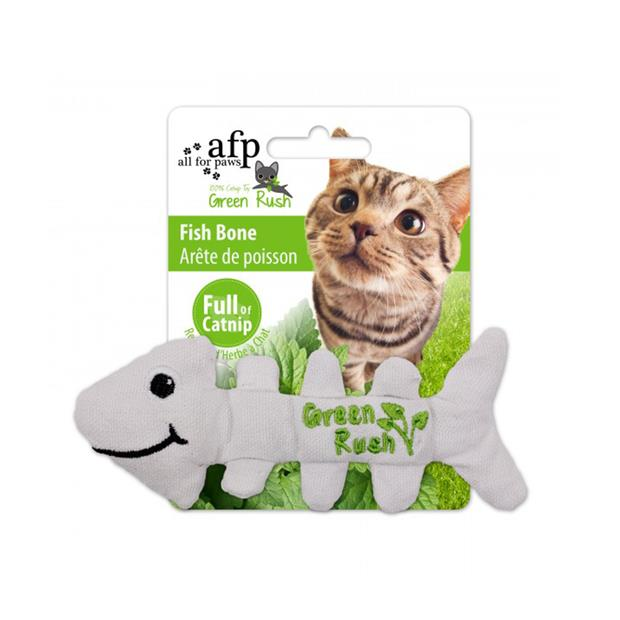 Afp Green Rush Fish Bone Cat Toy Each
