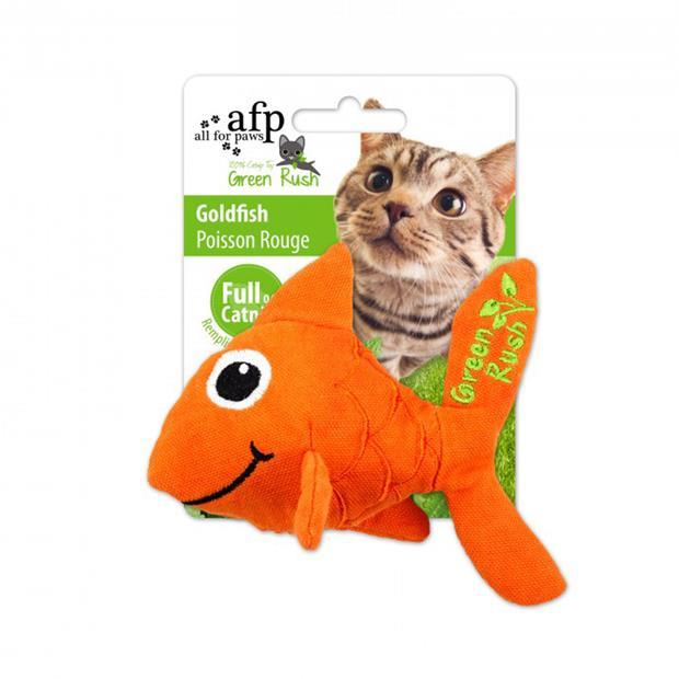 Afp Green Rush Goldfish Cat Toy Each