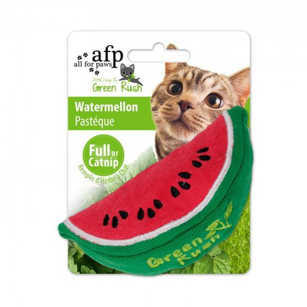 Afp Green Rush Watermelon Cat Toy Each