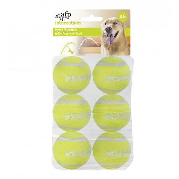 Afp Interactive Maxi Fetch Super Bounce Tennis Ball 6 Pack