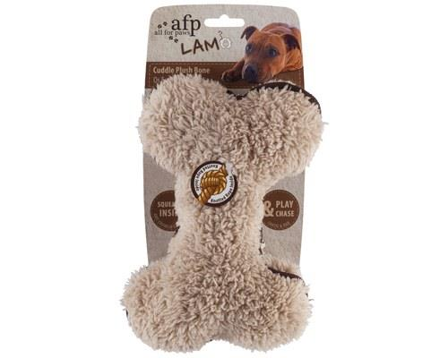All For Paws (afp) Lambswool Plush Bone Toy For Dogs 20cm
