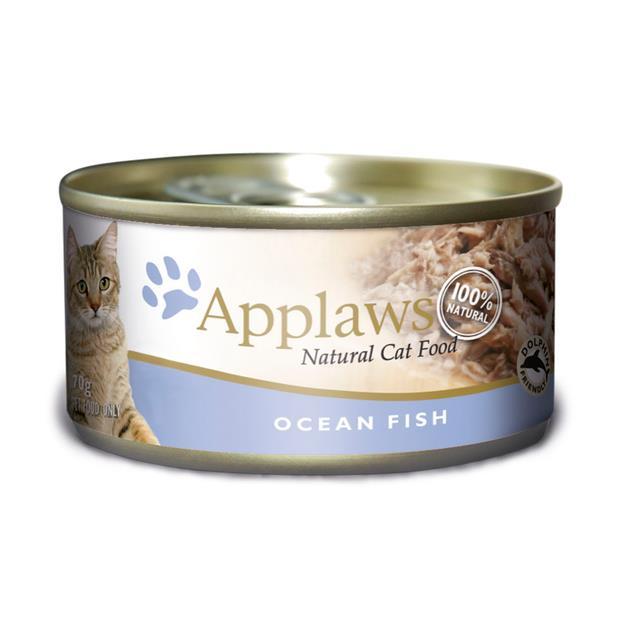 Applaws Wet Cat Food Ocean Fish Tin 24 X 70g