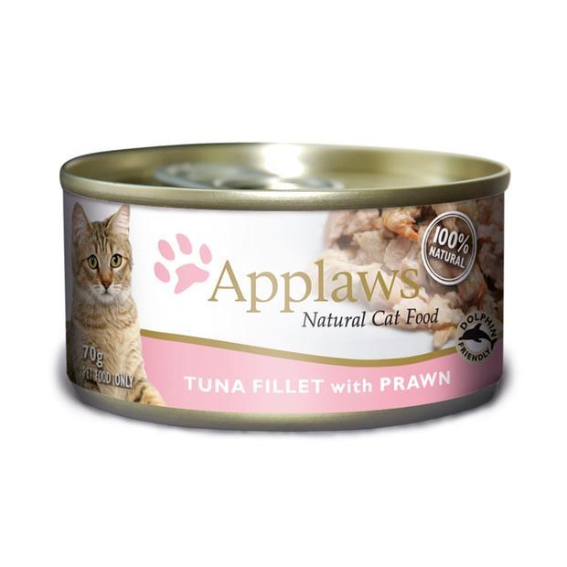 Applaws Wet Cat Food Tuna Prawn Tin 24 X 70g