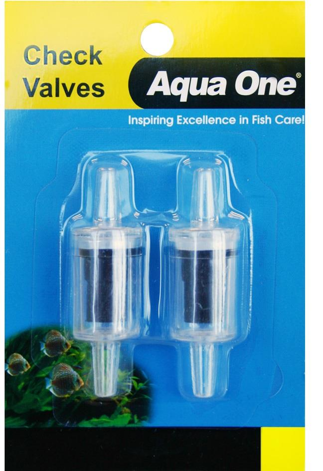 Aqua One Air Line Check Valve Carded 2 Pack