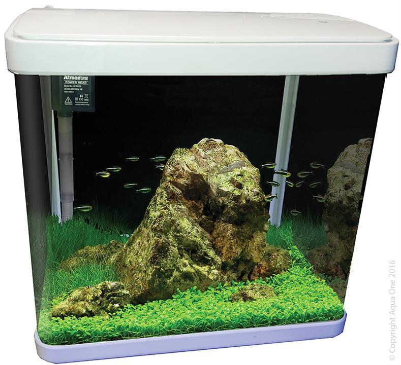 Aqua One LifeStyle 29 Complete Glass Aquarium 38cm 29L Gloss White