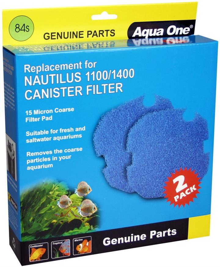 Aqua One Nautilus 1100 1400 Sponge 15ppi Blue 84s