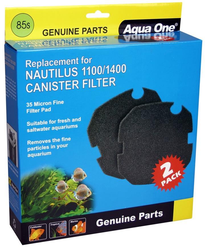 Aqua One Nautilus 1100 1400 Sponge 35ppi Black 85s