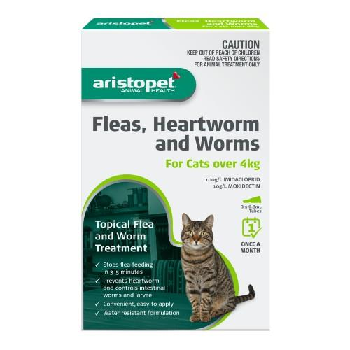 Aristopet Spot-on Treatment for Cats over 4kg 3 pack