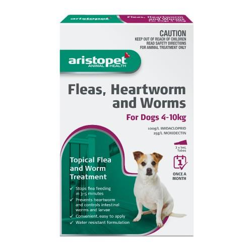 Aristopet Spot-on Treatment for Dogs 4-10kg 3 pack
