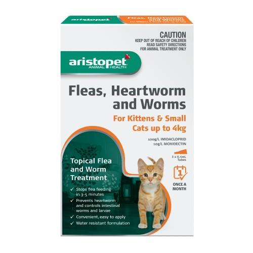 Aristopet Spot-on Treatment for Kittens and Small Cats up to 4kg 3...
