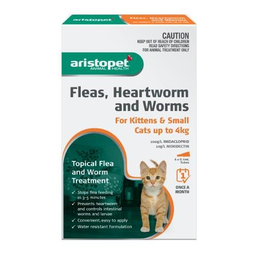 Aristopet Spot-on Treatment for Kittens and Small Cats up to 4kg 6...
