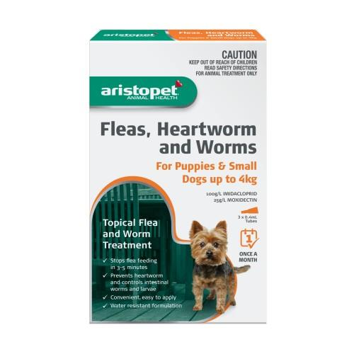 Aristopet Spot-on Treatment for Puppies and Small Dogs up to 4kg 3...