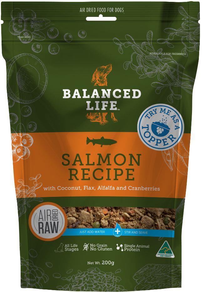 Balanced Life Adult Rehydratable Salmon Dry Dog Food Topper 200g