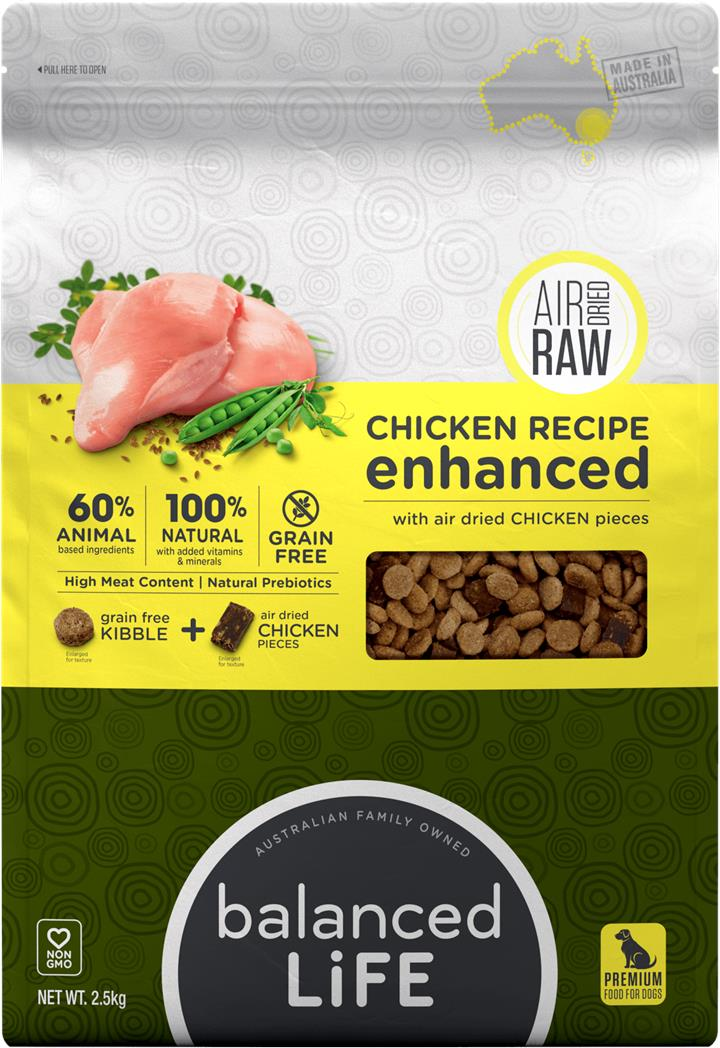 Balanced Life Enhanced Dry Dog Food With Chicken Meat Pieces 2.5kg