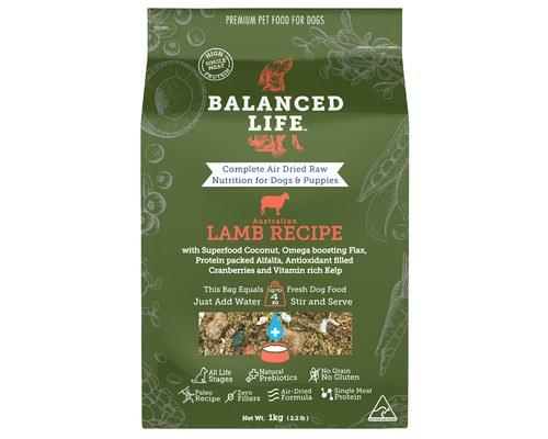 Balanced Life Lamb Dog Food 1kg