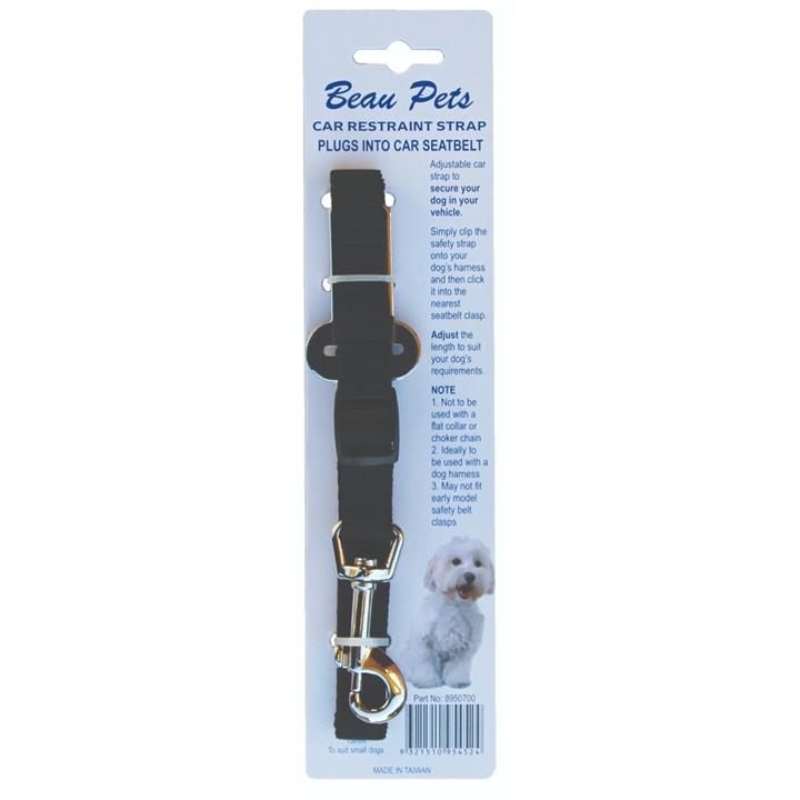 Beau Pets Car Restraint with Snap Hook 15mm