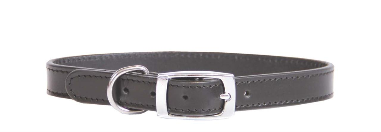 Beau Pets Deluxe Sewn Leather Dog Collar Black
