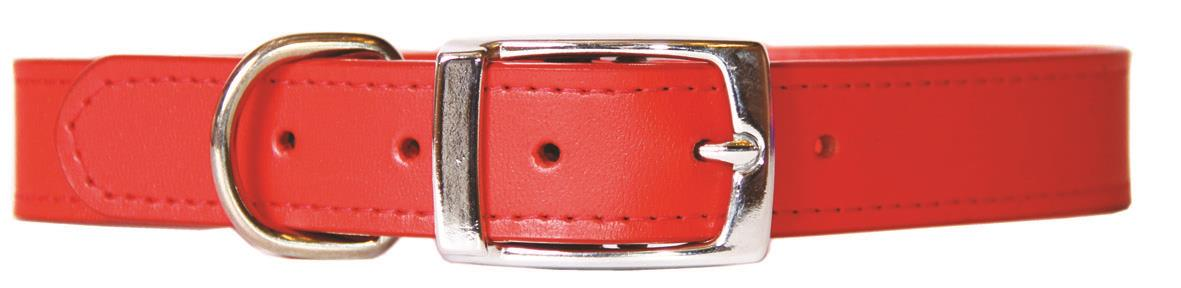 Beau Pets Deluxe Sewn Leather Dog Collar Red