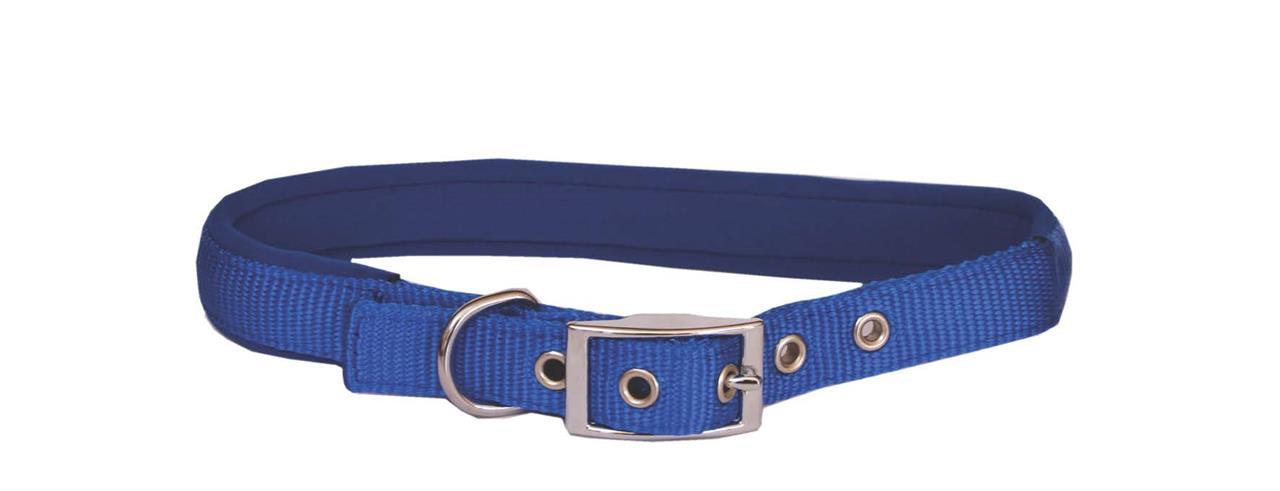 Beau Pets Neoprene Nylon Dog Collar Blue