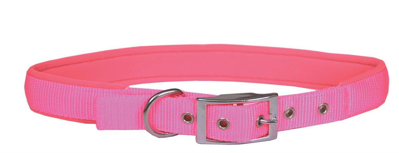 Beau Pets Neoprene Nylon Dog Collar Pink