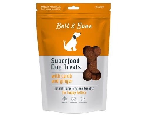 Bell And Bone Superfood Dog Treats With Carob And Ginger 150g