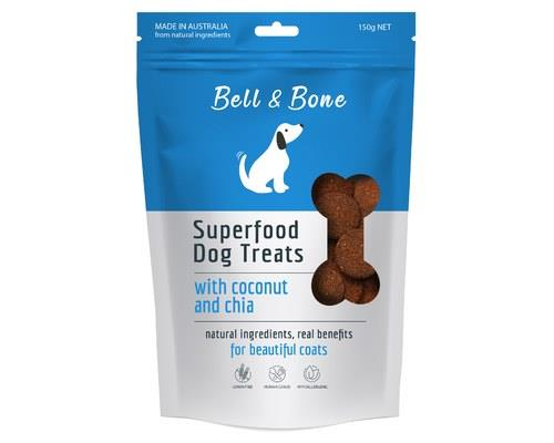 Bell And Bone Superfood Dog Treats With Coconut And Chia 150g