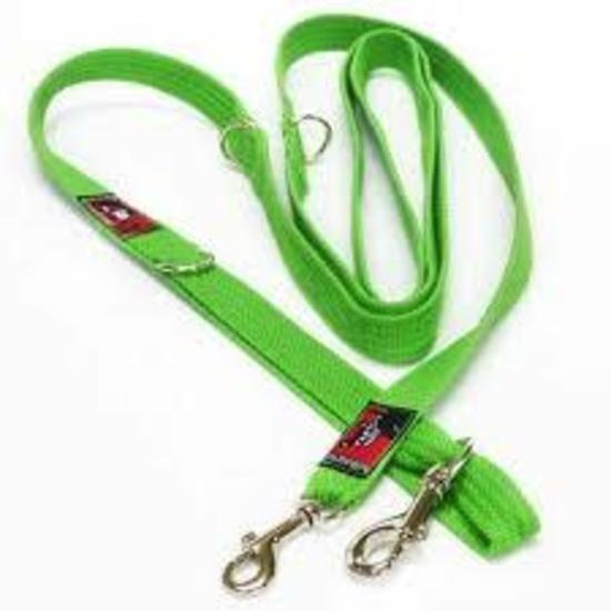 Black Dog Halter Double Lead for Head Halters - Small Width - Green