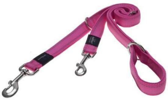 Black Dog Halter Double Lead for Head Halters - Small Width - Pink