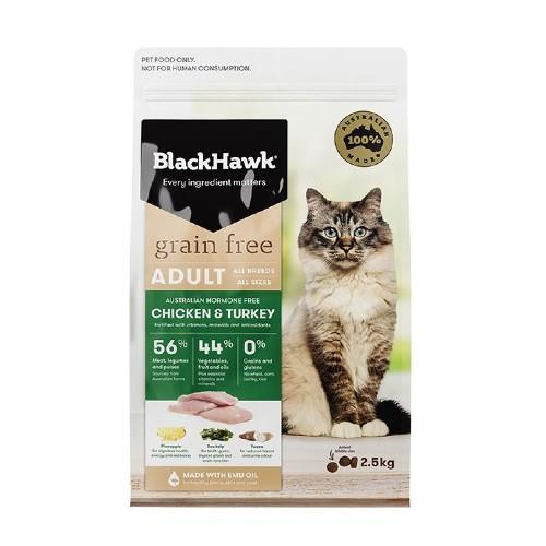 Black Hawk Adult Cat Grain Free Chicken and Turkey 2.5kg