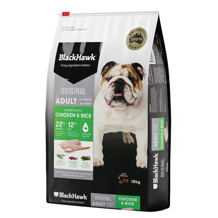 Black Hawk Adult Chicken & Rice Dog Food 10kg