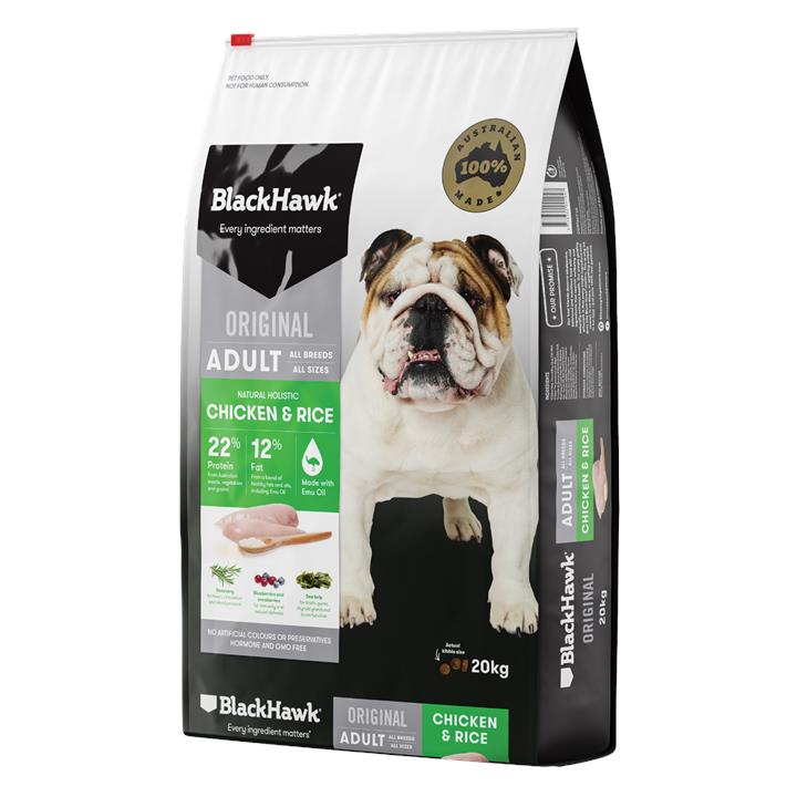 Black Hawk Adult Chicken & Rice Dog Food 20kg